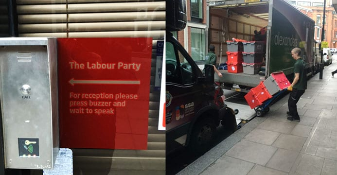 Labour Party Moves Offices